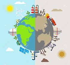 solar energy wind energy city factories air pollution