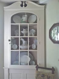 white kitchen corner cabinet hutch kitchen cabinets pinterest