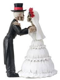skeleton cake topper skeleton day of the dead marriage wedding the dia de