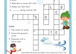 2nd grade crossword worksheets u0026 free printables education com