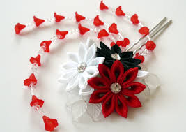 japanese hair pin kanzashi fabric flower hair fork kanzashi flower hair u pin