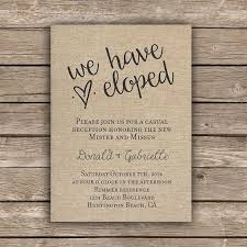 elopement invitations reception after eloping invitations wcm