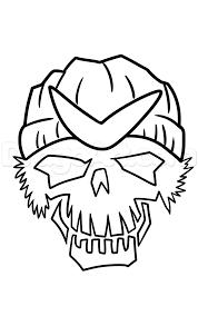 Step 6 Draw Suicide Squad Boomerang Skull