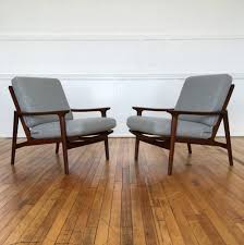 Low Armchairs Pair Of Danish Style 1960 U0027s Mid Century British Guy Rogers New