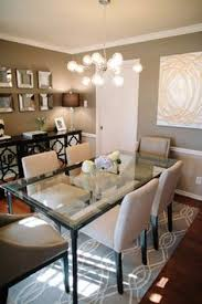Dining Room Mirrors Make A Statement In The Dining Room With Three Large Mirrors