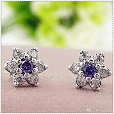 not on the high earrings 2018 100 high quality 925 sterling silver forget me not stud