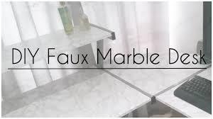 diy marble desk pc table channygans youtube