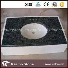 china blue pearl granite vanity tops bathroom with double ceramic