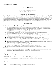 Resume Skills Abilities Examples by Skills And Abilities Examples Resume Free Resume Example And