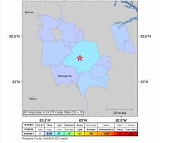 Sparta On Map 2 5 Earthquake Reported In Sparta Georgia On April 5 2017 The
