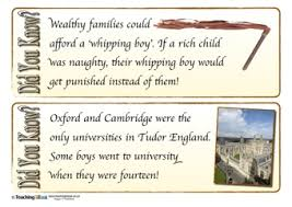 tudors did you cards teaching ideas