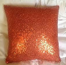 Factory Direct Home Decor Cheap Pillow Cushion Cover Buy by Amazon Com Shinybeauty Orange Sequin Pillow Case 18x18 Inch