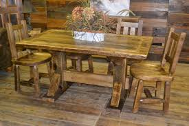 dakota rough sawn pine dining table rustic furniture mall by