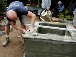 how to make a backyard fire pit how to make a concrete fire feature how tos diy
