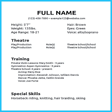 How To Write An Acting Resume With No Experience 13134 by Acting Resume No Experience Or Training Faceboul Com