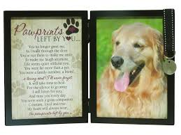 pet memorial pawprints memorial pet tag frame pawprints left by you