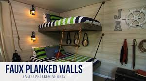 faux planked walls knock it off diy project east coast