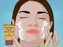image led make makeup look airbrushed step 3