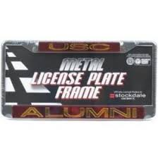 uc berkeley alumni license plate frame usc trojans metal alumni inlaid acrylic license plate
