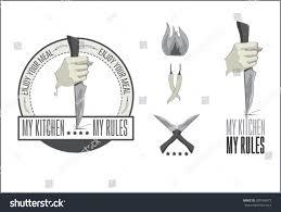 vintage vector logo kitchen knife stock vector 285768473 vintage vector logo kitchen knife