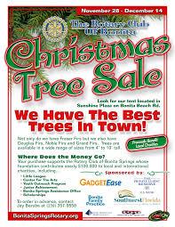 christmas tree on sale 2010 rotary christmas tree flyer the rotary club of bonita springs
