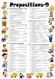 english worksheets prepositions worksheets page 17