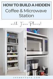 how to build kitchen cabinets free plans how to build a coffee station and microwave