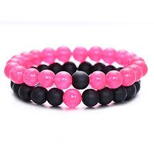 bracelet pink images Pink distance bracelets 2pc set free shipping distance bracelet jpg