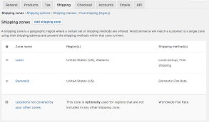 Ups Shipping Zones Map Setting Up Shipping Zones Woocommerce Docs