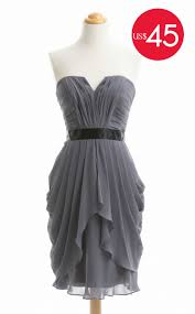 special offer grey short sweetheart neck bridesmaid dress