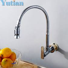 diy kitchen faucet free shipping in wall mounted brass kitchen faucet fold expansion