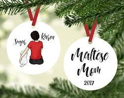 maltese ornament etsy