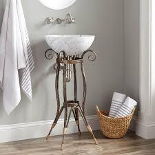 pandora wrought iron sink stand burnished bronze bathroom