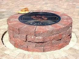 Firepit Bricks Brick Pit Diy Wysiwyghome