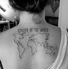31 world map tattoos designs for travelers 2017 tattoosboygirl