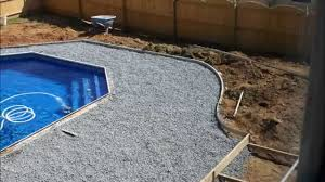 installation of an in ground swimming pool in 6 minutes famos