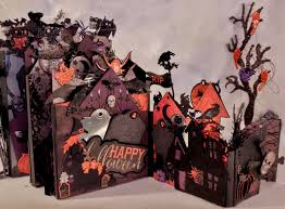 halloween bones background annes papercreations recollections spooky castle halloween mini album