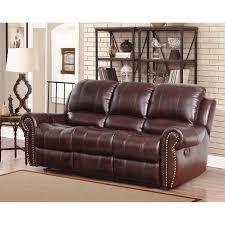 Abbyson Leather Sofa Reviews Abbyson Living Abbyson Broadway Top Grain Leather Reclining Sofa