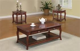 Cherry Coffee Table Warm Brown Cherry Coffee Table Set