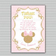 minnie mouse thank you cards friendship etsy minnie mouse thank you cards together with