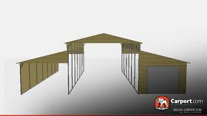 Open Carport by Open Style Boxed Eave Metal Barn 36 U0027 X 21 U0027 X 12 U0027 Metal Barns Info