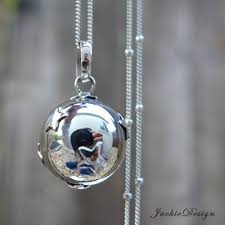 silver pendant necklace handmade images 16mm little stars chime sound harmony ball bali jpg