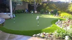 Backyard Putting Green Designs by Backyard Landscaping Backyard Golf Green Designs