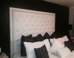 diamond tufted double nailhead border headboard bed frame