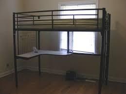 Black Bunk Bed With Desk Furniture Metal Loft Bed With Desk Underneath Loft Bunk