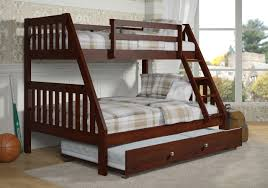 Bunk Bed With Trundle Mission Bunk Bed Trundle Cappuccino Finish
