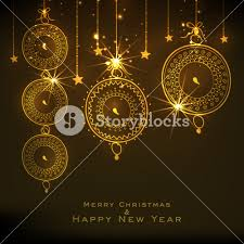 greeting card design for festival celebrations merry