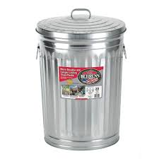 metal outdoor trash cans trash u0026 recycling the home depot