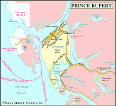 map of prince rupert northern bc columbia travel and