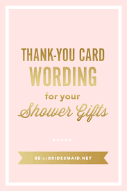 wedding shower thank you gifts bridal shower thank yous best sle bridal shower thank you card